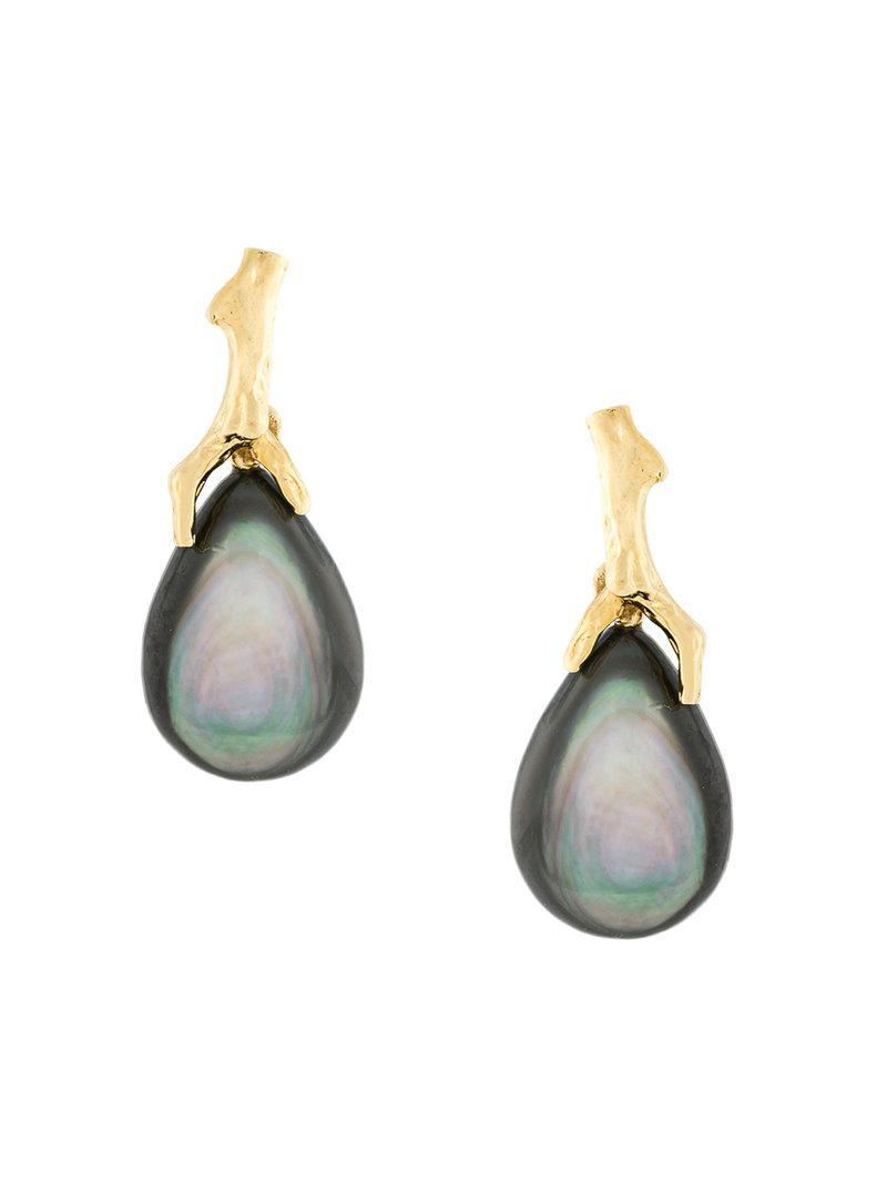 My Favourite freshwater pearl safety pin earrings - Metallic Wouters & Hendrix Q2g72V2ptq