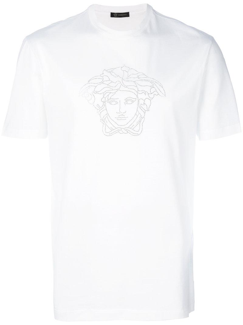 c211fe35 Versace Classic Plain T-shirt in White for Men - Save 64% - Lyst