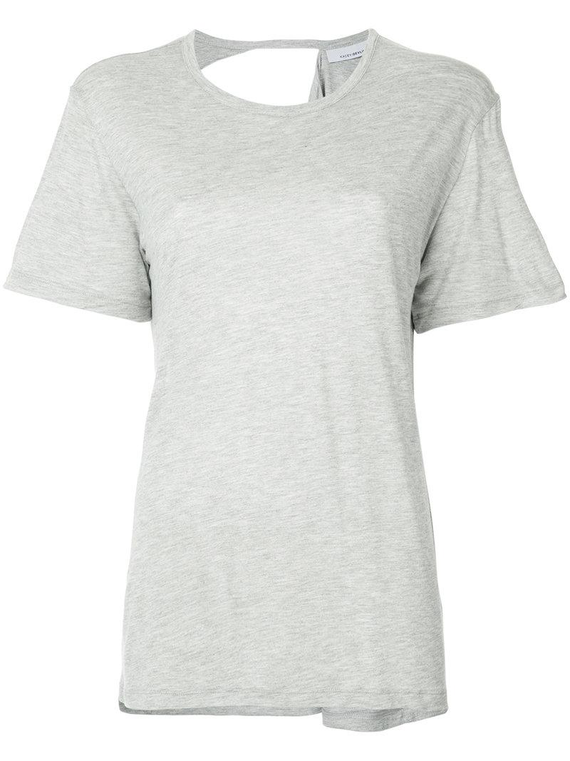 Low Price For Sale Cheap Sale Perfect exposed shoulder blade T-shirt - Grey Kacey Devlin From China Online ftPpKc