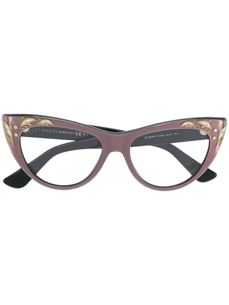9670cccdf6922 Gucci. Women s Embellished Cat Eye Glasses