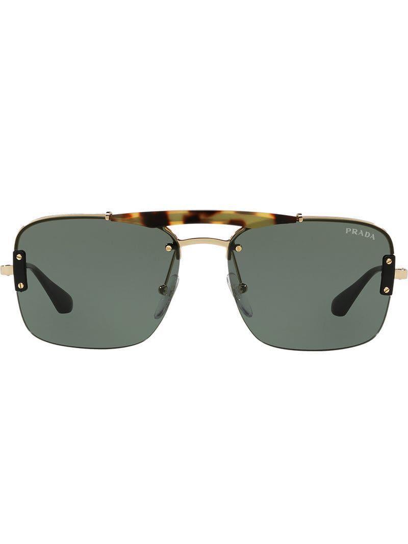 b8665b73e5 Prada - Brown Gafas de sol con montura cuadrada for Men - Lyst. Ver en  pantalla completa