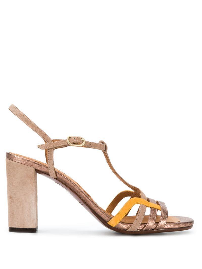 89b1011edd0 Lyst - Chie Mihara High Block Heel Sandals in Brown