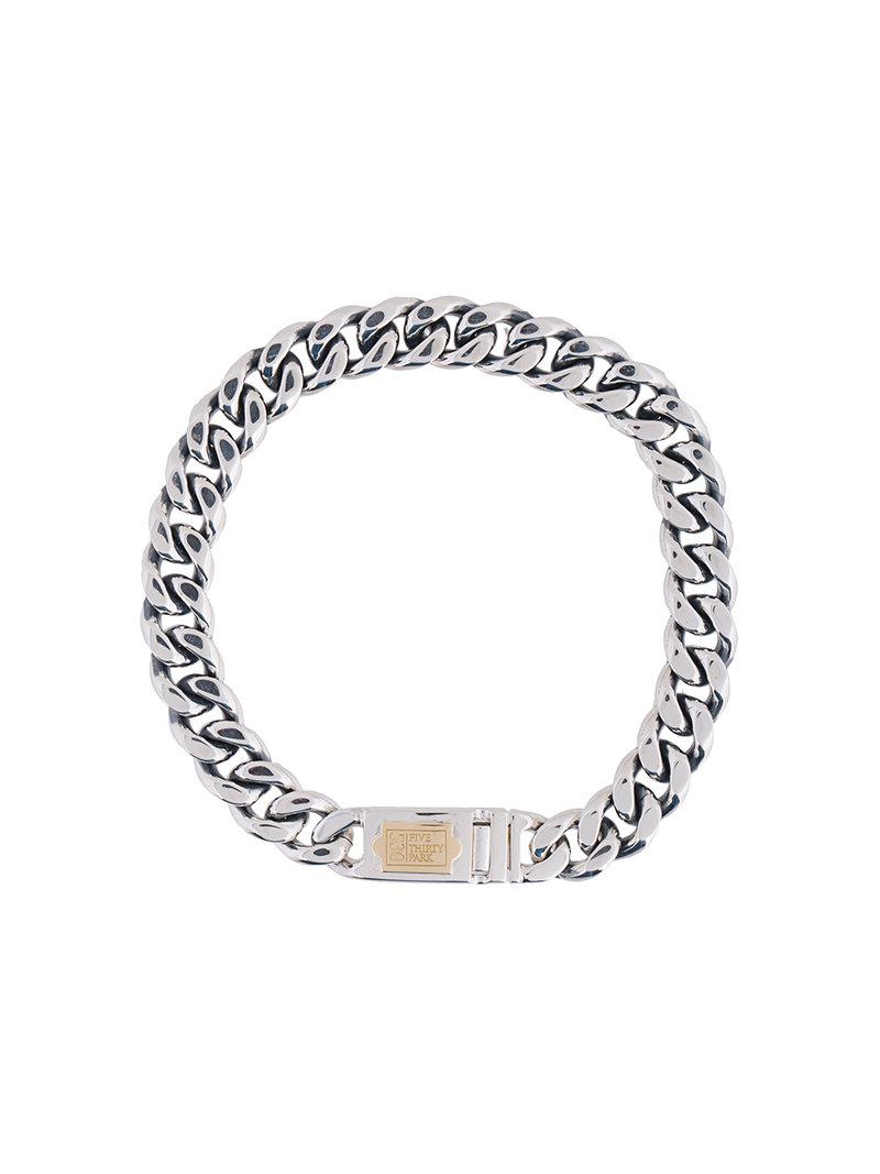 530Park Curb Chain bracelet - Metallic eWHF2mjdG