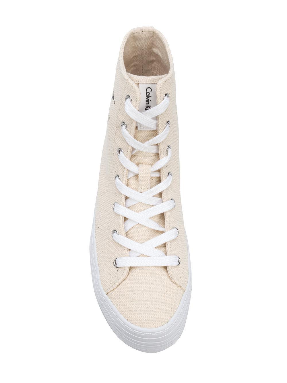 flatform hi-top sneakers - Nude & Neutrals Calvin Klein Jeans fOe6xz