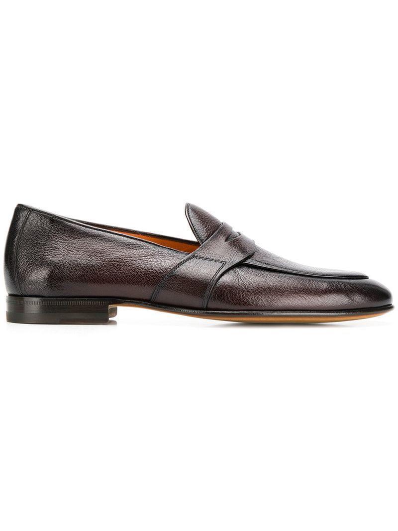 ab411e9b515ec1 Lyst - Santoni Penny Loafers in Brown for Men