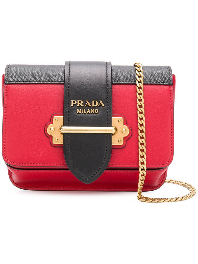 1a98203346a840 Prada Cahier Crossbody Bag in Red - Lyst
