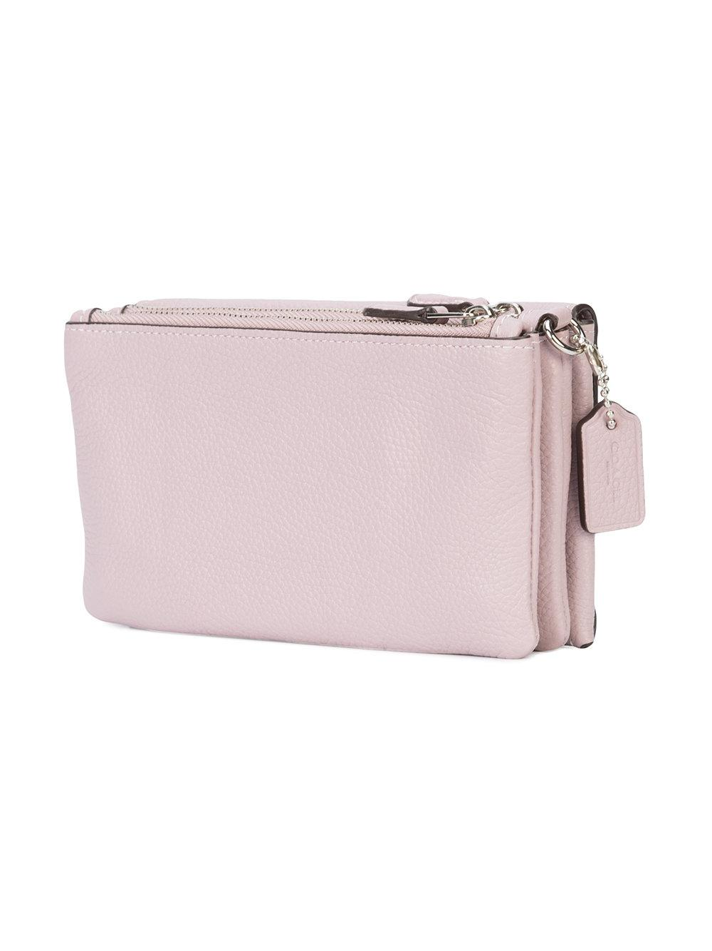 9edfe1058c Lyst - COACH Triple Small Wallet in Pink
