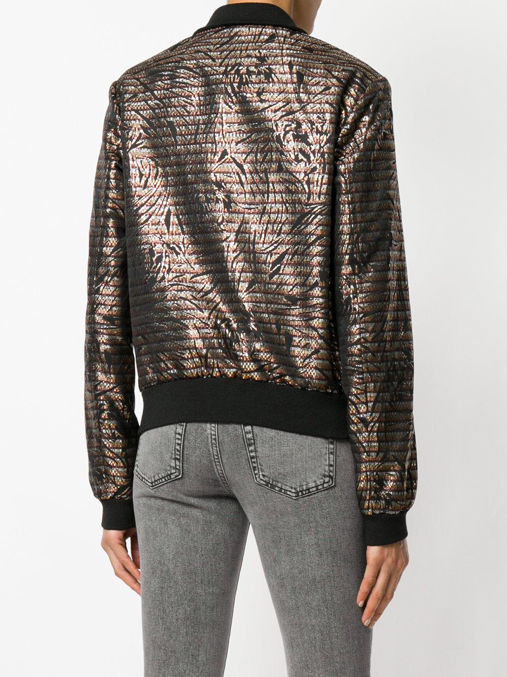 embroidered fitted bomber jacket - Black Saint Laurent Outlet Big Sale Inexpensive For Sale Fake HKnigWKq