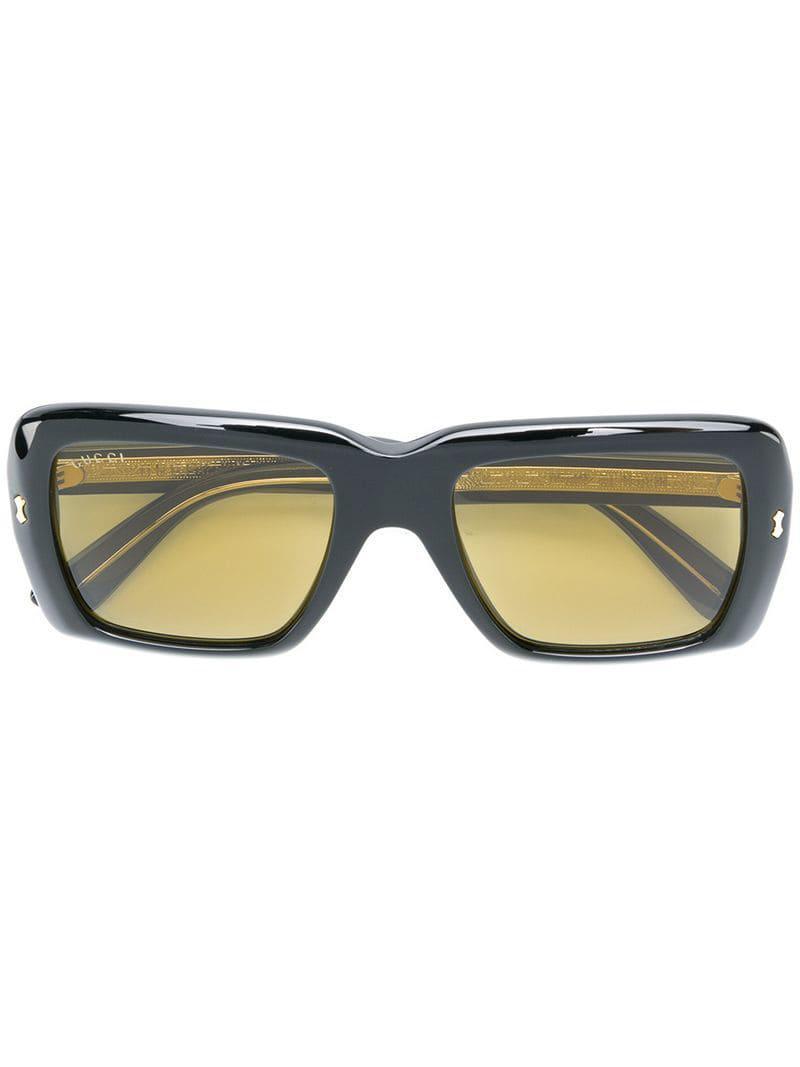 ea10464b3fa Gucci Oversized Square Sunglasses in Black - Lyst