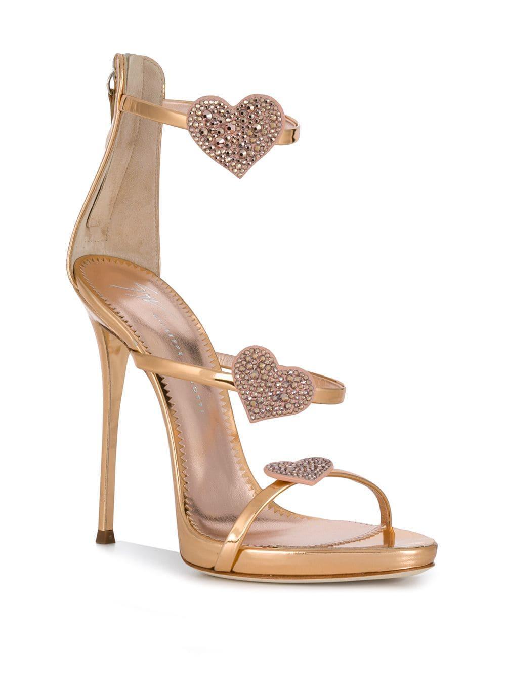 bebc12995 Lyst - Giuseppe Zanotti Harmony Love Sandals in Metallic - Save 9%