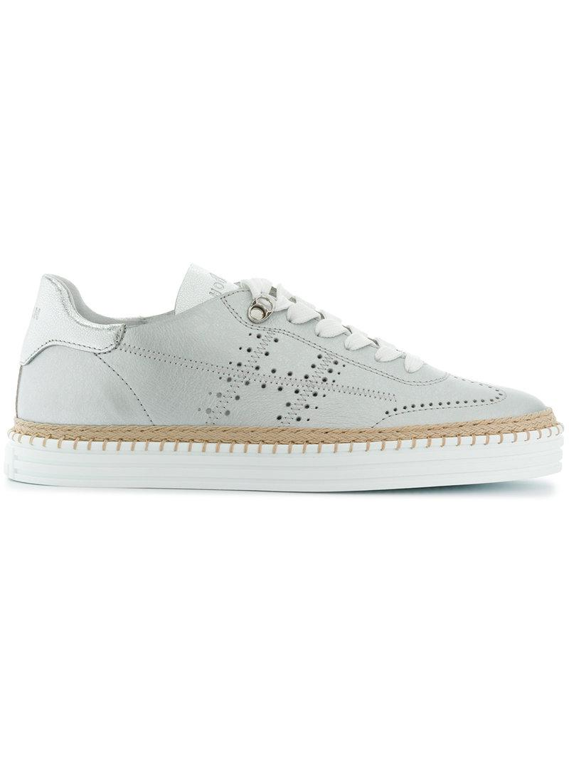 stitch sole sneakers - Grey Hogan kDHER