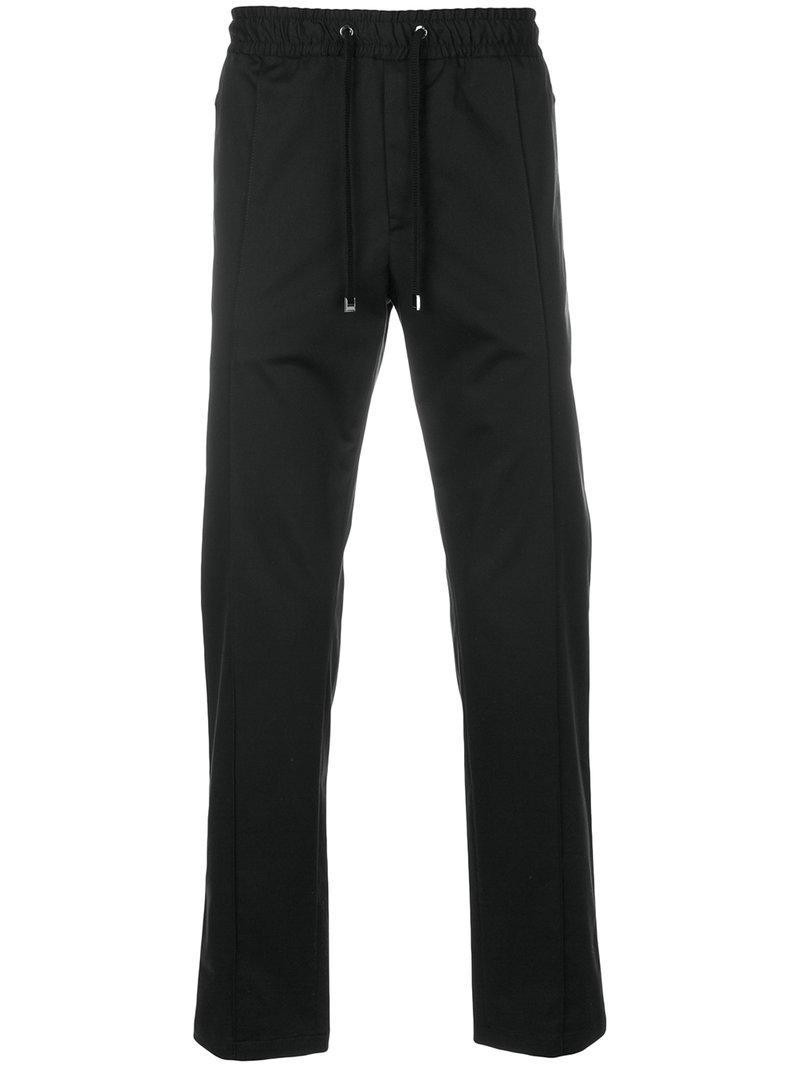 25d1147ebfe6 Lyst - Dolce   Gabbana Straight Leg Joggers in Black for Men