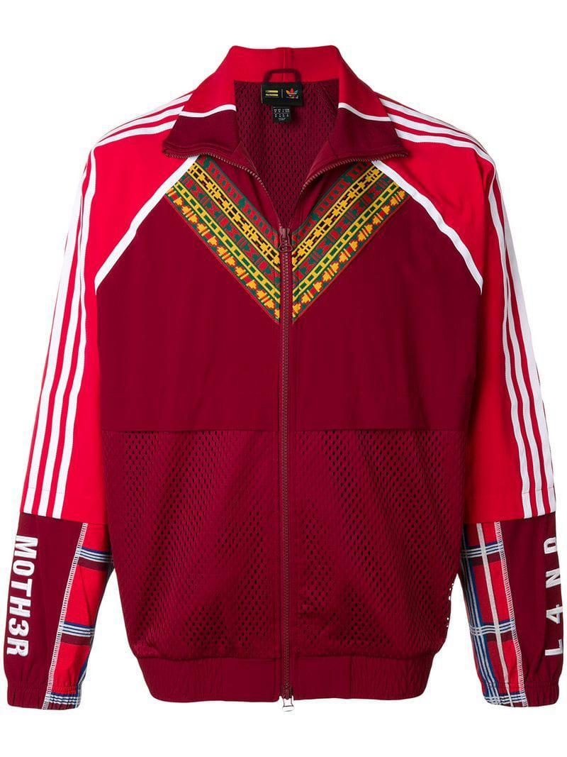 b141c85c013dd Adidas Originals Zip Front Track Jacket in Red for Men - Lyst