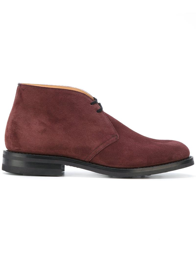 Church s Stivaletti  ryder  in Red for Men - Lyst 8d920dfc8cc