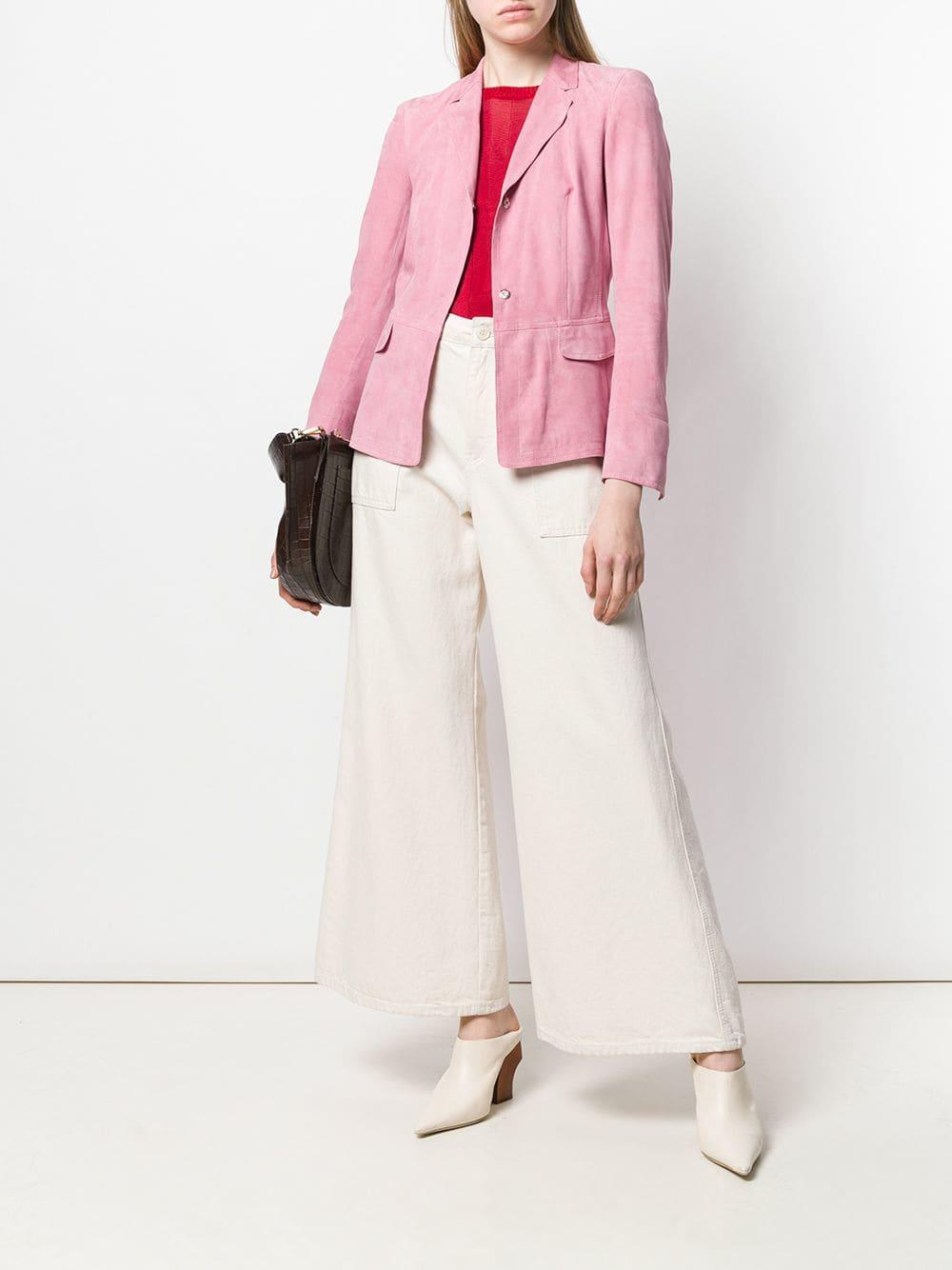 c368478086264 Sylvie Schimmel Fitted Suede Jacket in Pink - Lyst