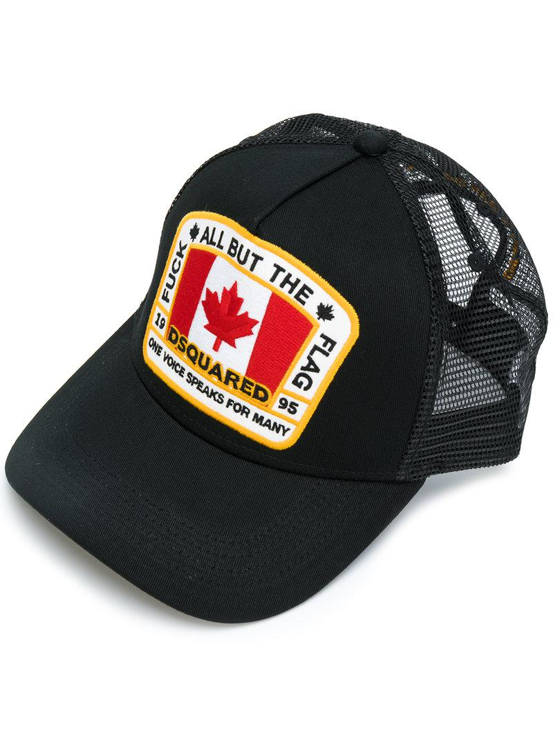 935230733b57b DSquared² Canadian Flag Baseball Cap in Black for Men - Lyst