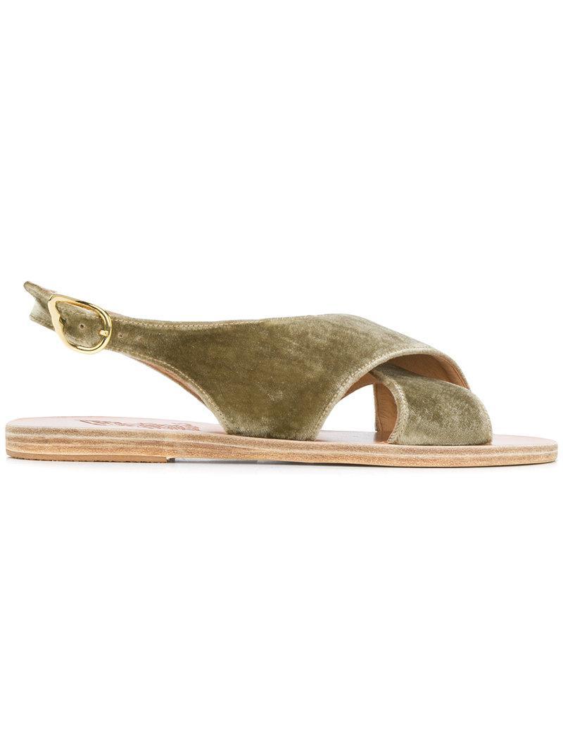 Anciennes Sandales Grecques Sandales Maria '- Vert onmAQc2gue