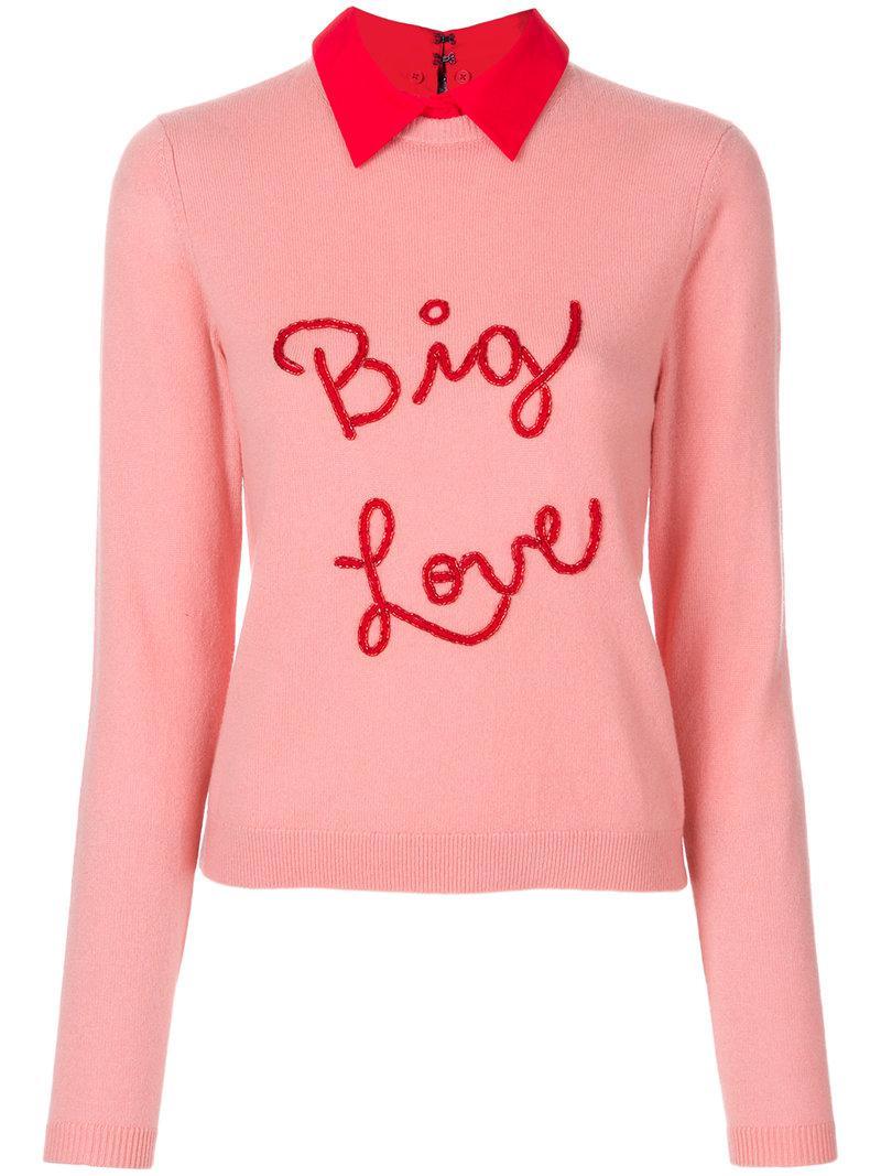 Best Online Multi Coloured sequin-embellished lips jumper - Pink & Purple Alice & Olivia Discount Very Cheap Cheap Sale Best Sale eWCbKtpN