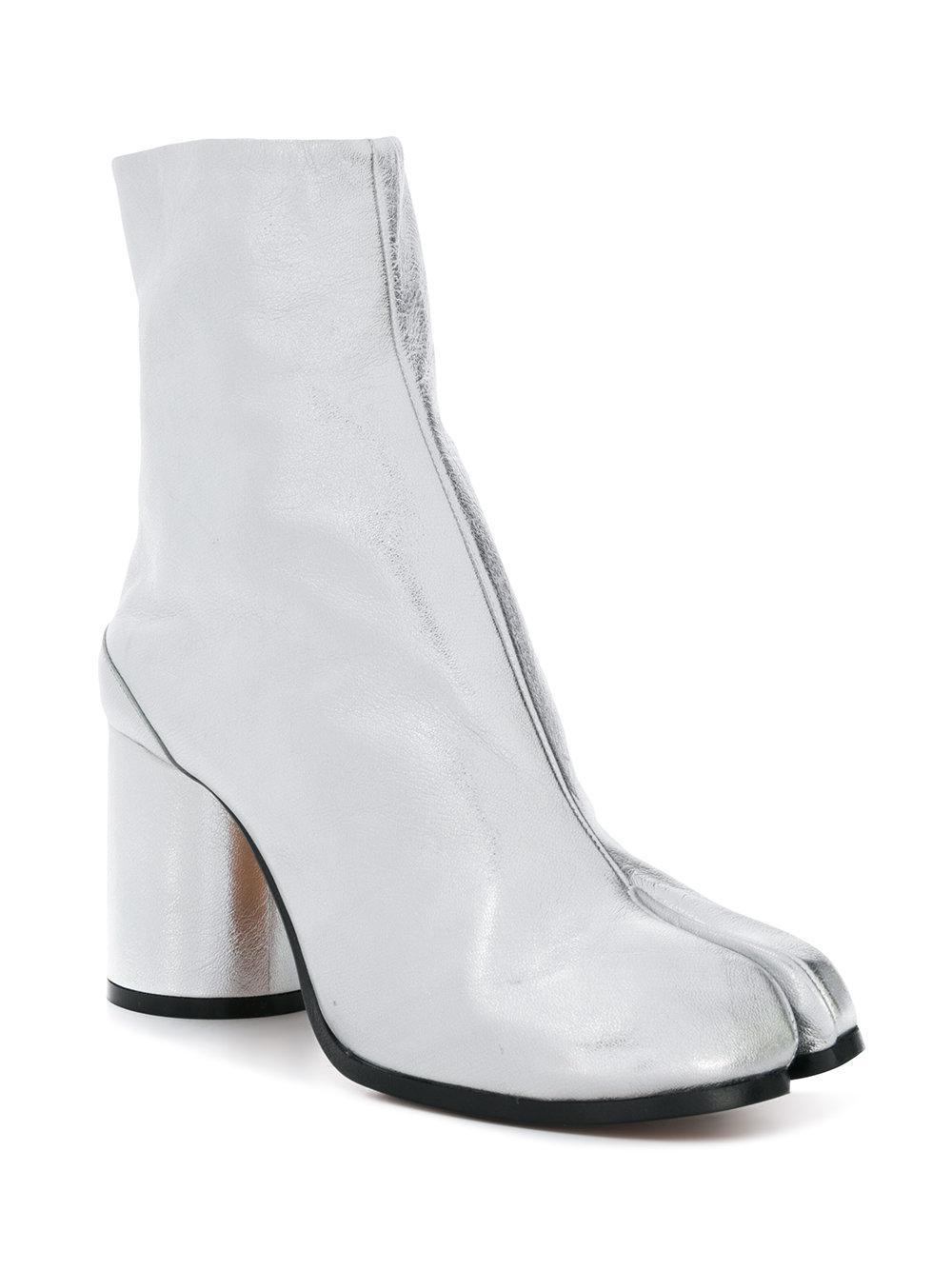 04f213b1a71 Lyst - Maison Margiela Laminated Tabi Boots in Metallic