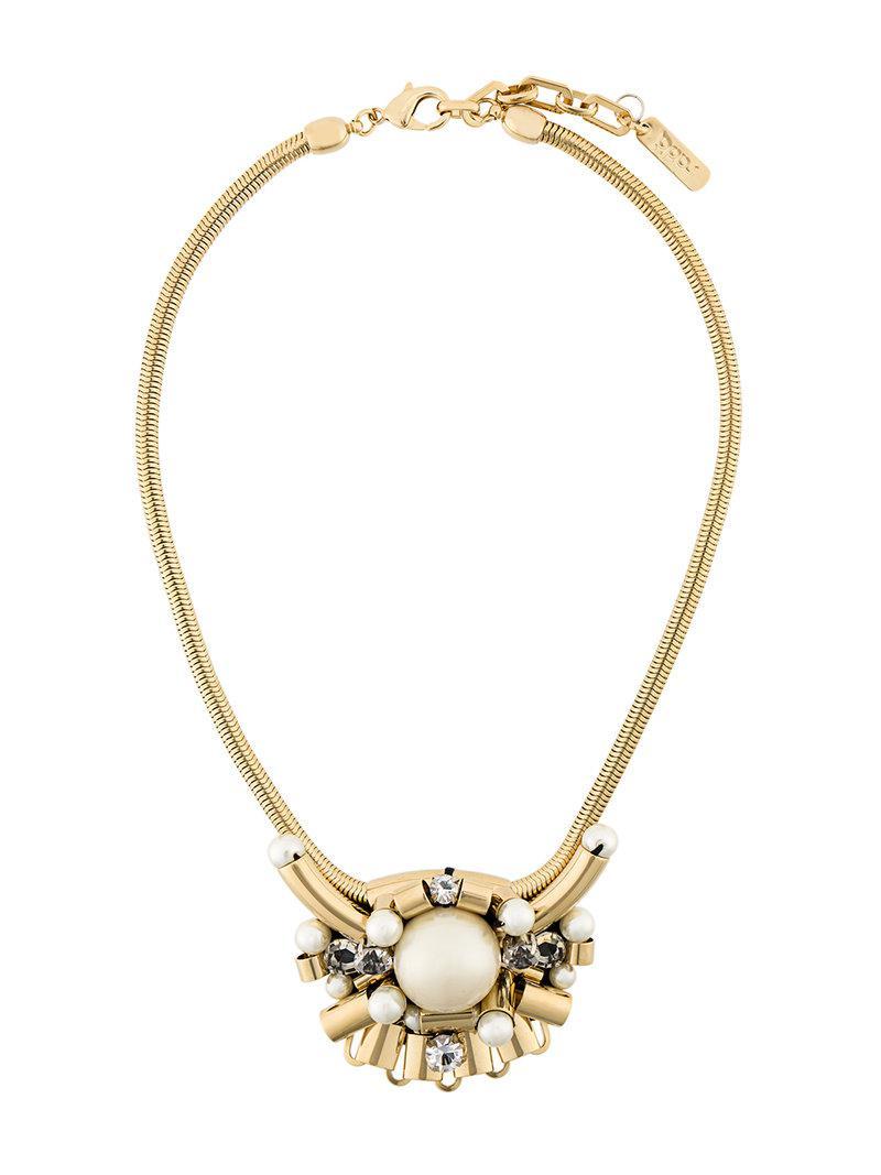 Rada drop hoop 13 charm necklace - Metallic ozWx6iGZD
