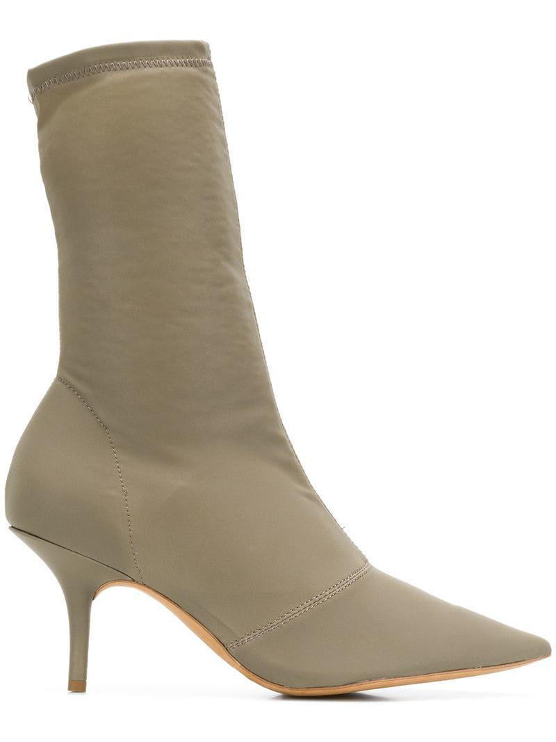 c1c457a321b Lyst - Yeezy Stretch Canvas Ankle Boots