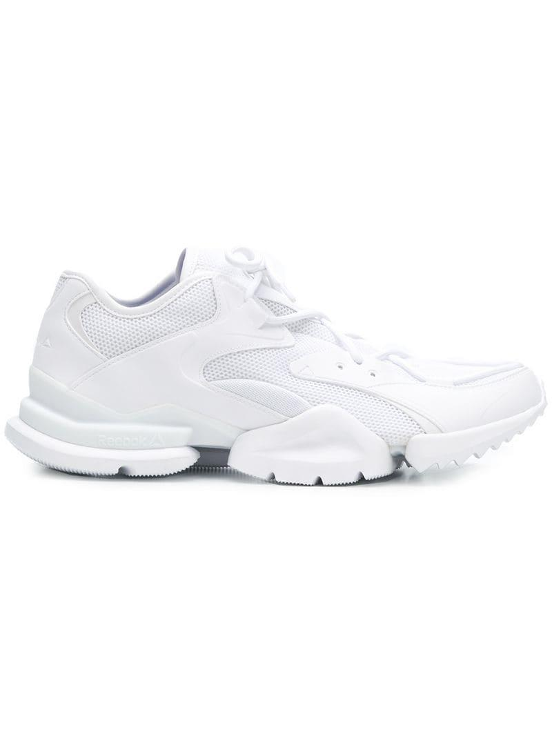 f73aebbf11d Lyst - Reebok White Run R.96 Sneakers in White for Men - Save 48%