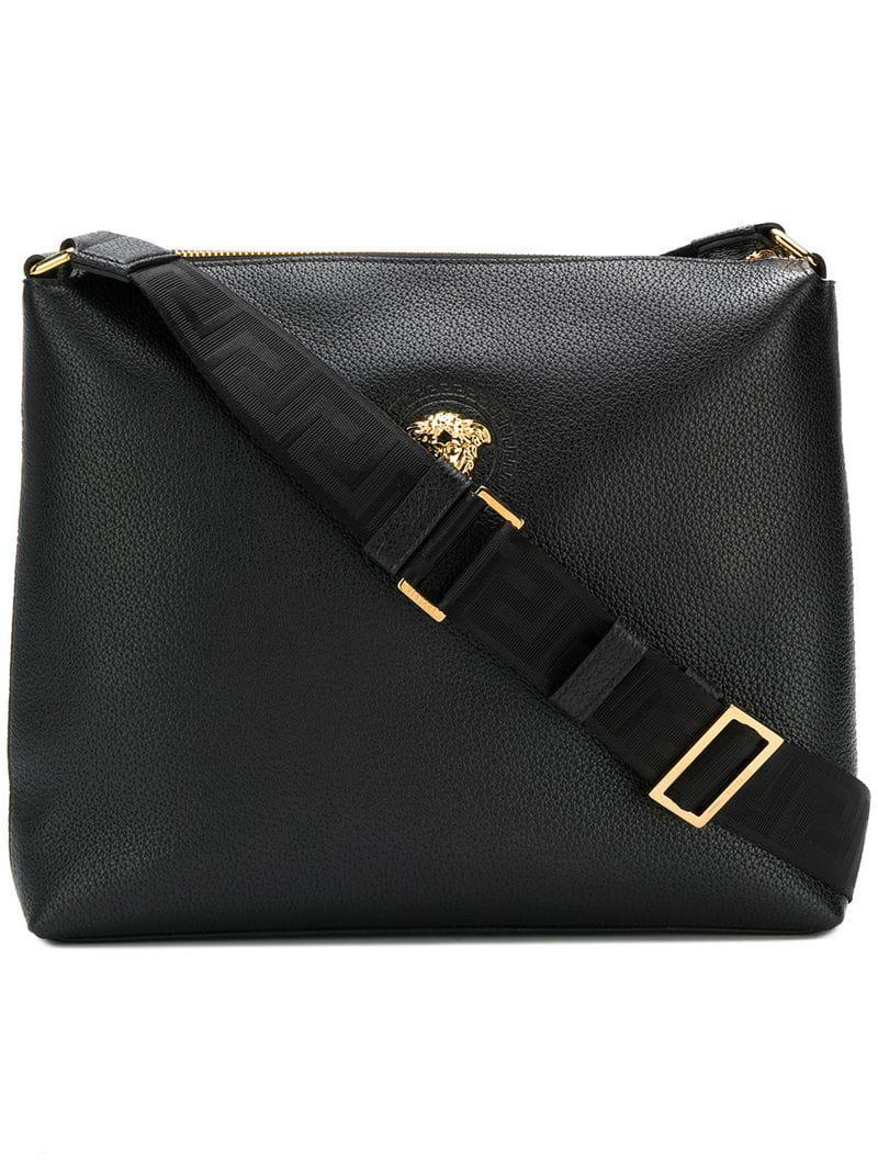 6efd3ce093 Lyst - Versace Medusa Messenger Bag in Black for Men