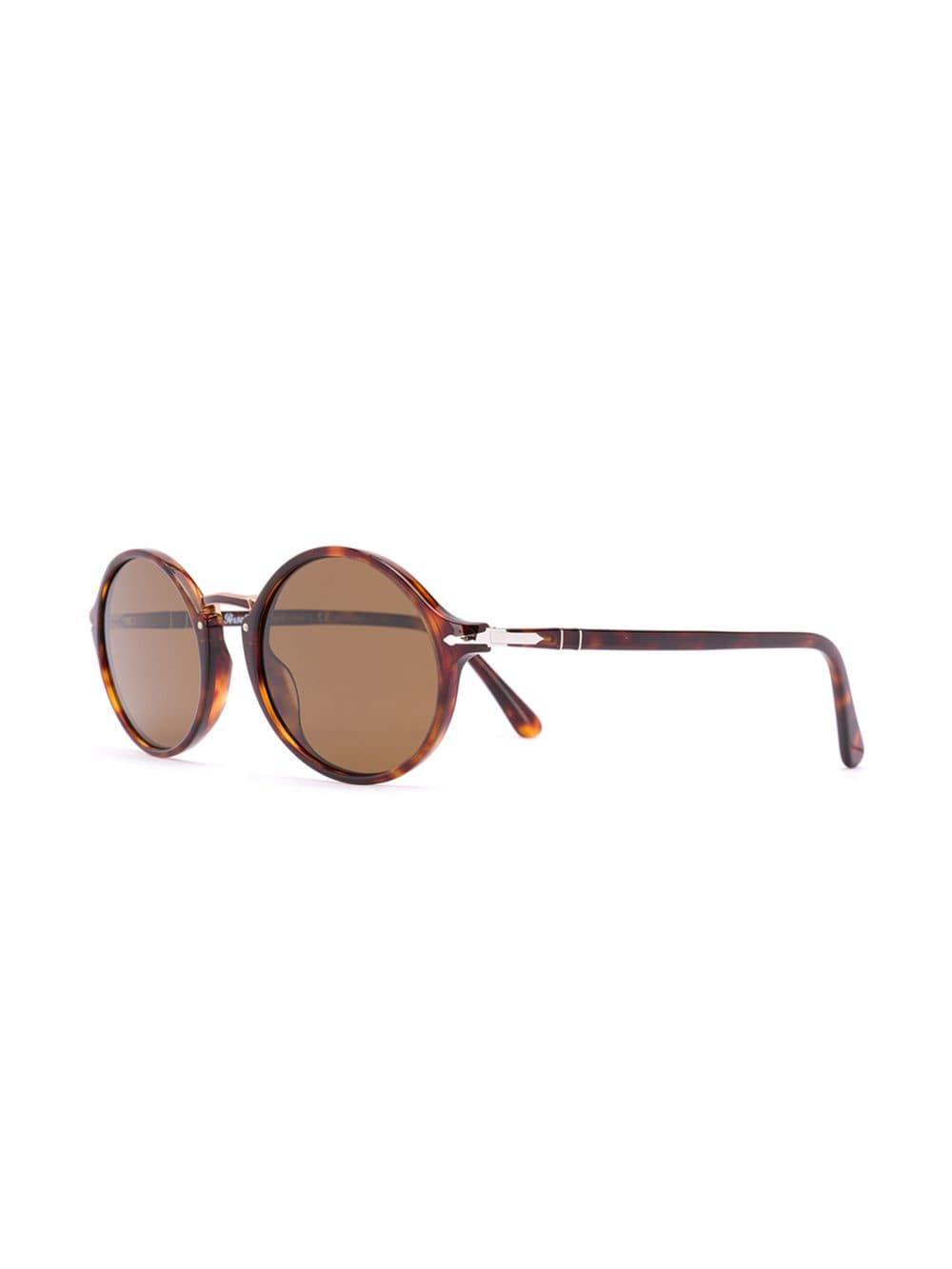 084571474c69d Lyst - Persol Oval Frame Sunglasses in Brown