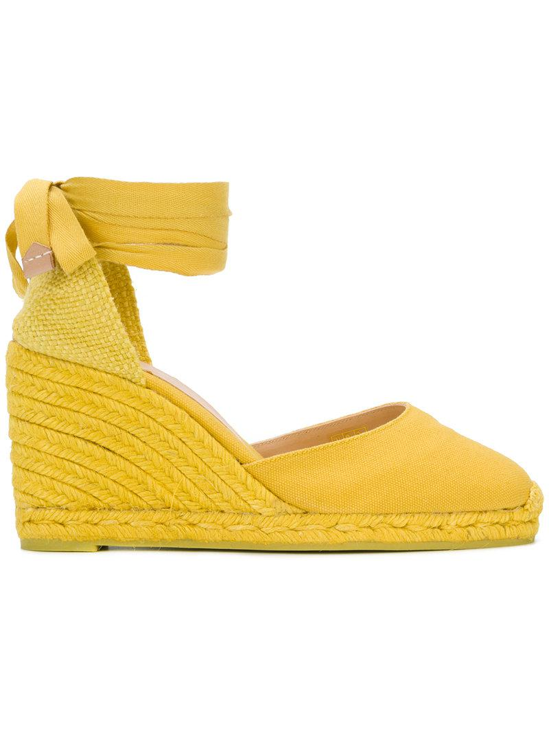Crochette wedge espadrilles - Yellow & Orange Castaner JtYxUgmu