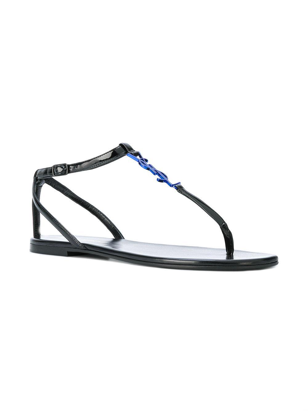 bd9796b12fd3 Lyst - Saint Laurent Nu Pieds 05 Ysl Sandals in Black