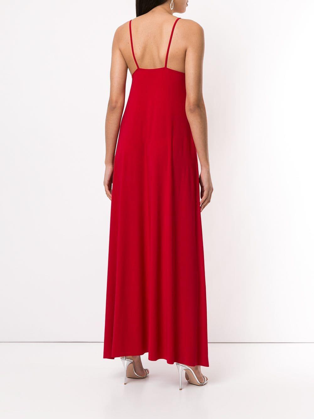 70af78cca10 Norma Kamali - Red Long Slip Dress - Lyst. View fullscreen