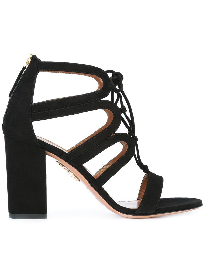 e8b4d19828c Aquazzura  holli  Sandals in Black - Save 27.058823529411768% - Lyst