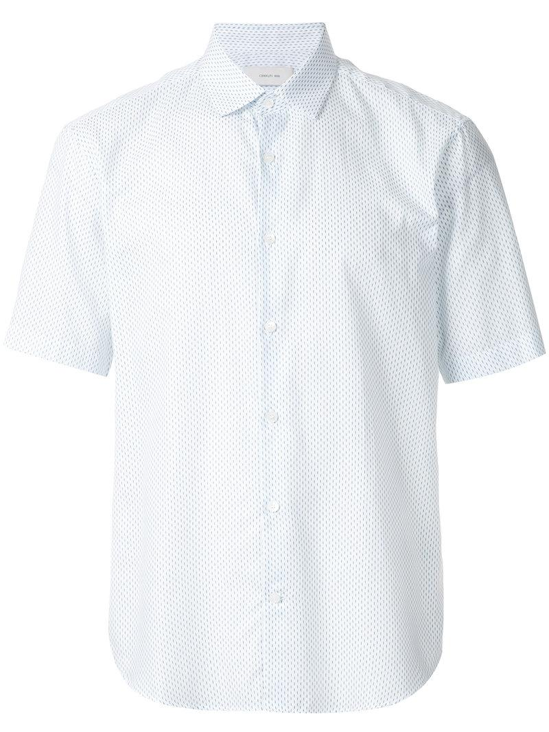 gingham short sleeve shirt - White Cerruti Shipping Discount Sale Cheap Sale New Arrival Clearance Low Price Cheap With Paypal Free Shipping Low Shipping cPTHmEbW