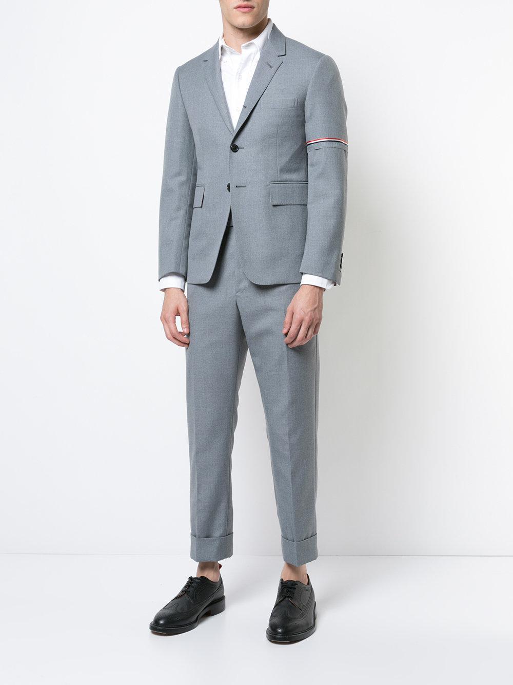 573c5f93301 Lyst - Thom Browne Classic Backstrap Trouser W  Rwb Selvedge Placement In  School Uniform Twill in Gray for Men