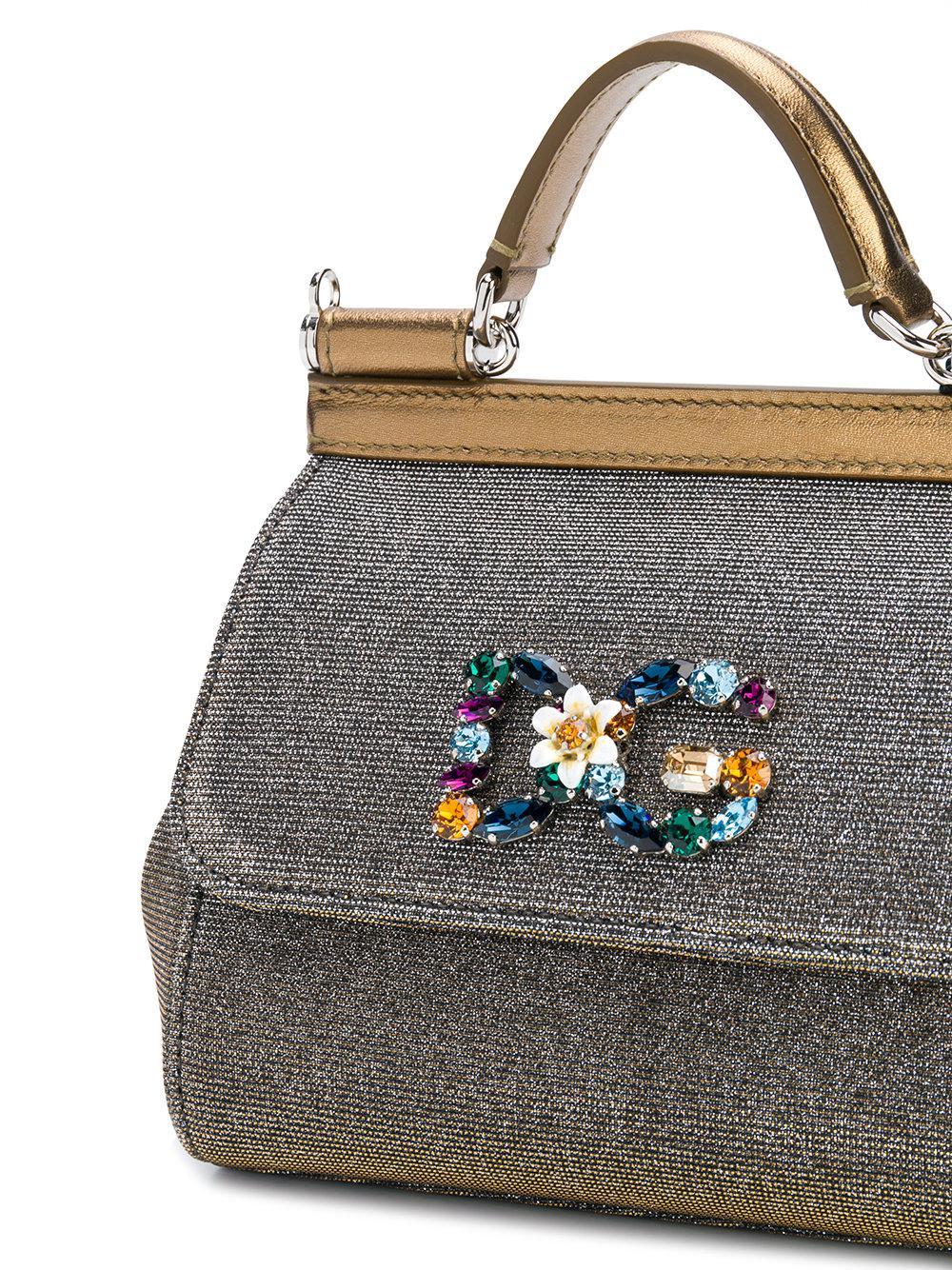 jewelled logo shoulder bag - Metallic Dolce & Gabbana RCtZzHgETl