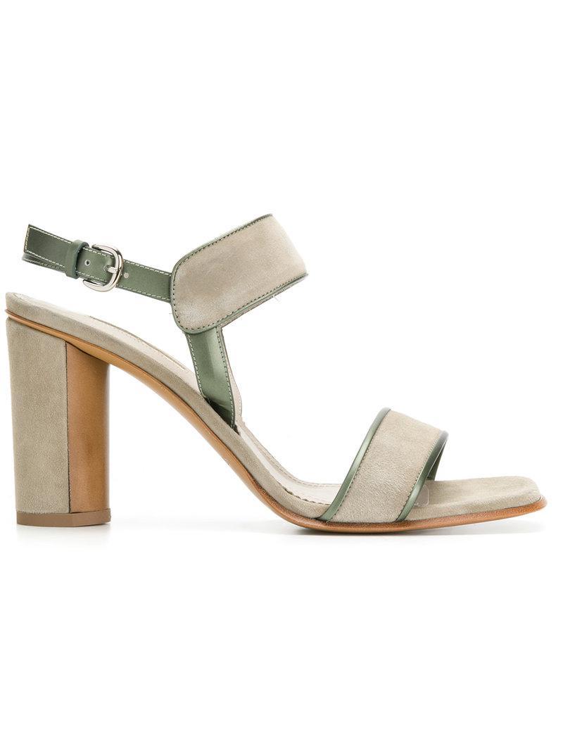 2018 Cheap Online leather trim sandals - Green Sartore Best Seller For Sale Shop For Cheap Online Discount Amazon Quality Original AbZTKZPdlX