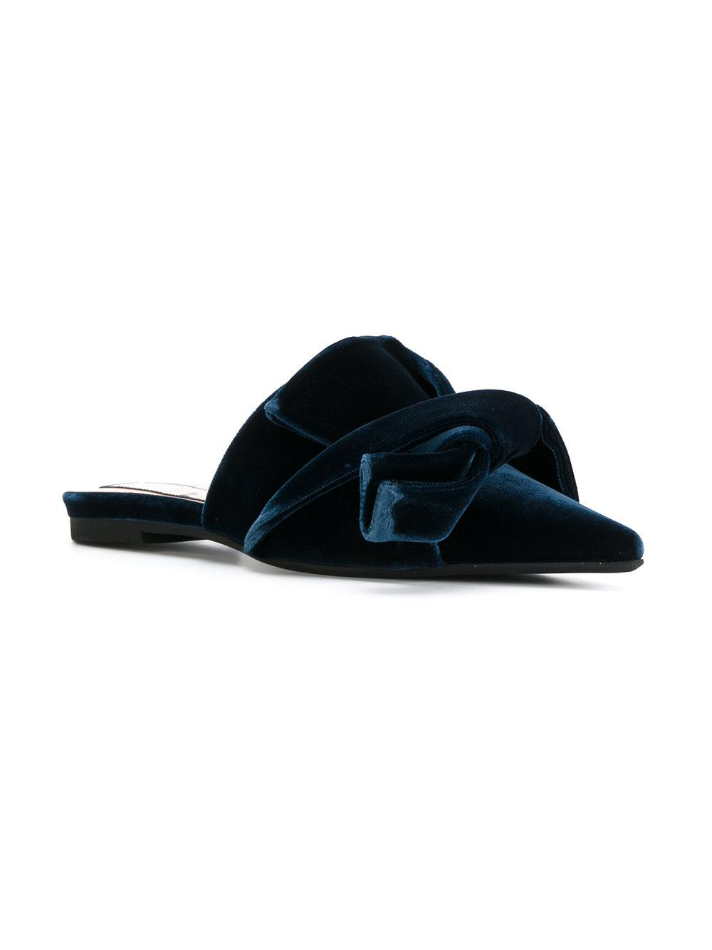 f0e04b09e91886 Lyst - N°21 Bow Front Slippers in Blue - Save 32%