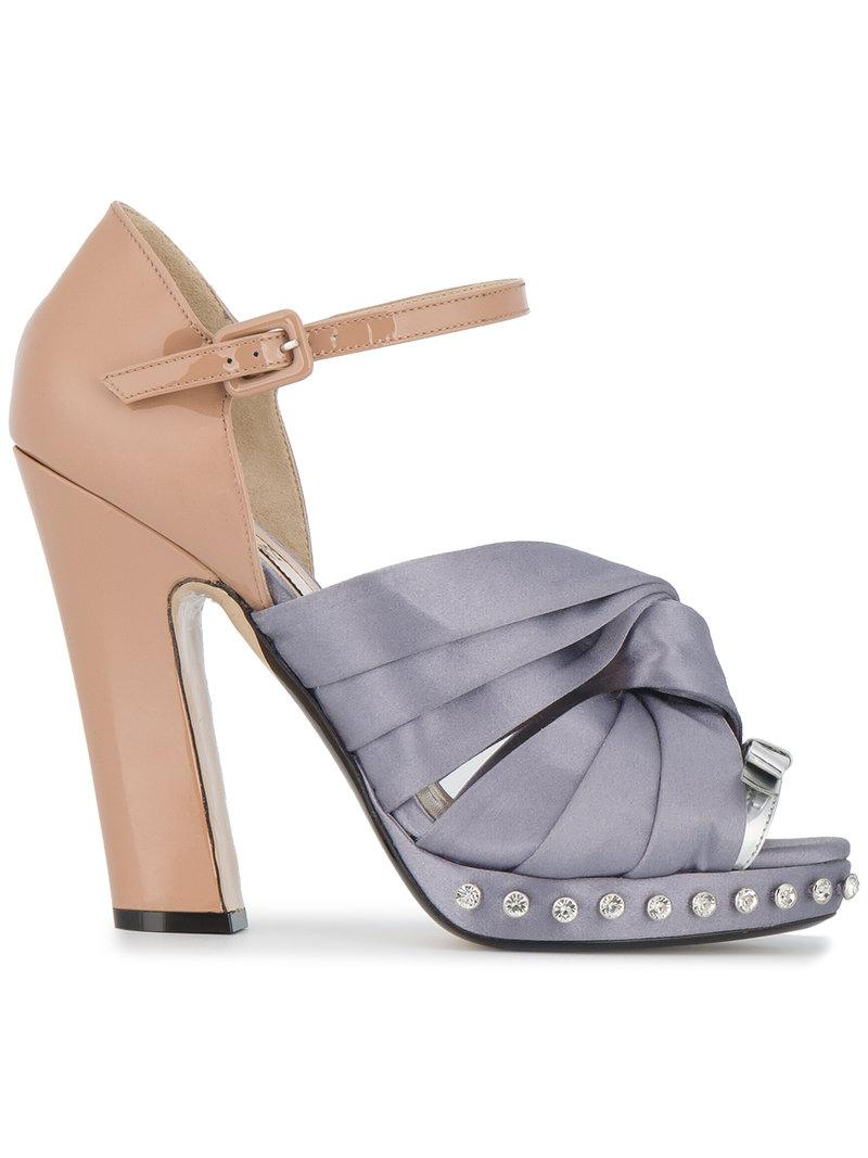 Buy Cheap Amazing Price knotted bow sandals - Pink & Purple N°21 Perfect Sale Online Good Selling For Sale aNJYZX0vsC