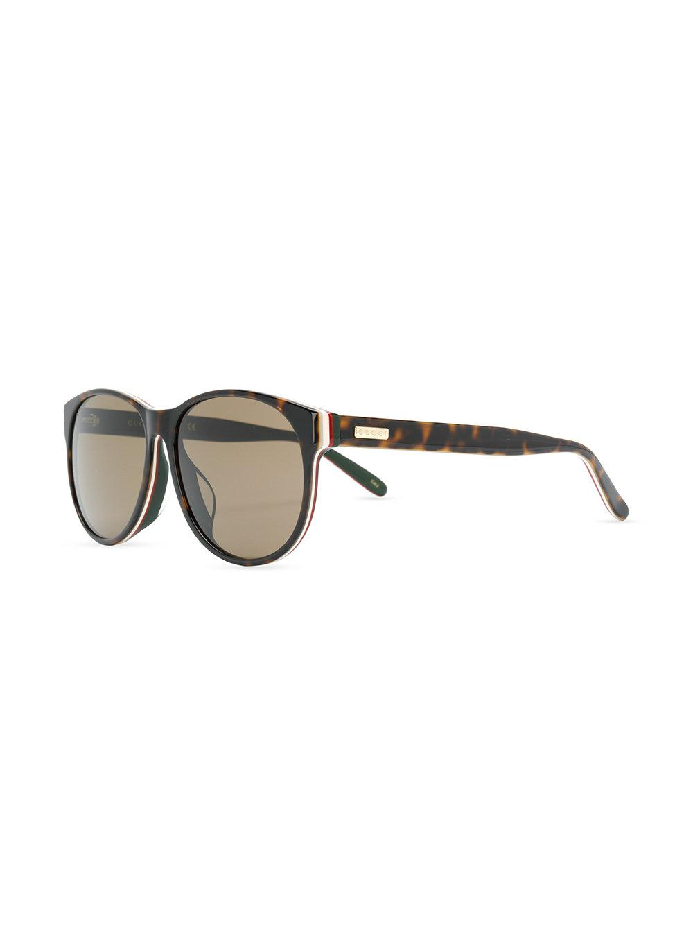 58735eb3b23 Gucci Classic Tortoiseshell Sunglasses in Brown for Men - Lyst
