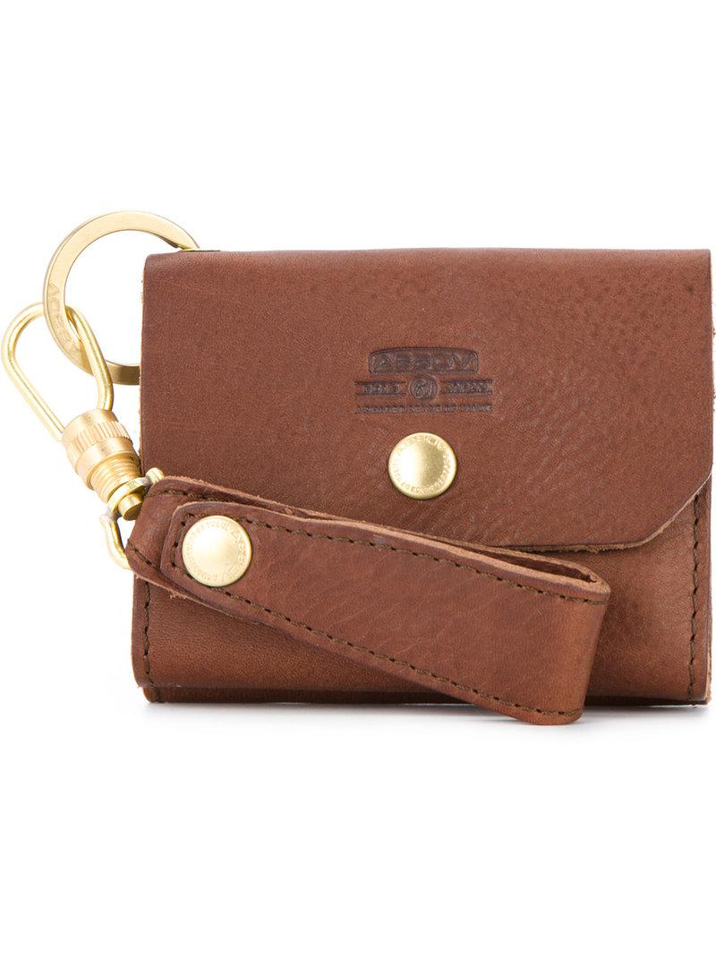cf8311d4710 As2Ov Small Keyring Wallet in Brown for Men - Lyst