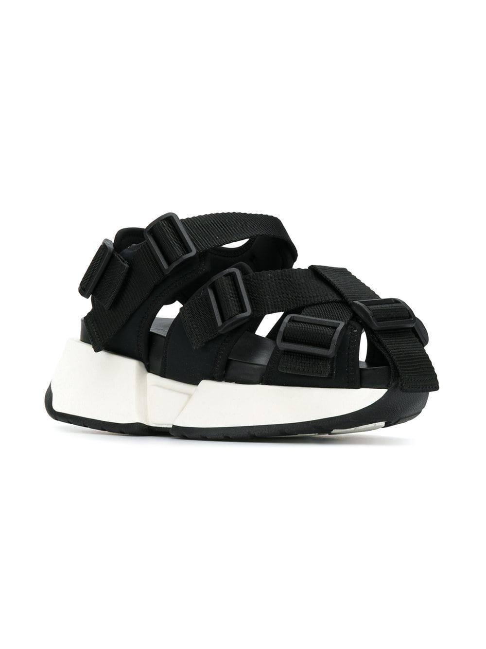 f2b666431dd0 Lyst - MM6 by Maison Martin Margiela Safety Strap Platform Sandals in Black
