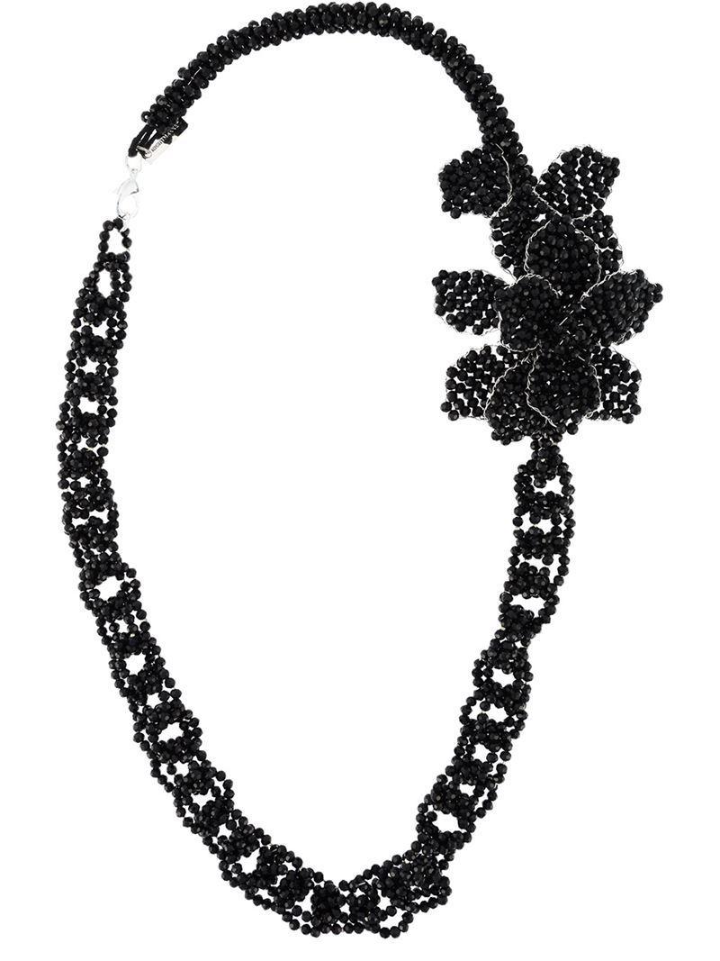 Night Market beaded necklace - Black Te8aeUw0X