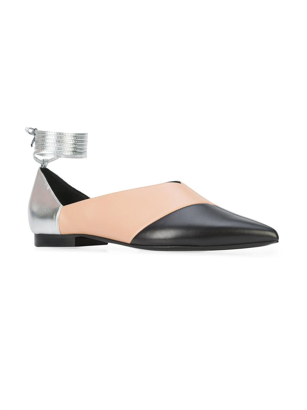 0dc282dbcfd Lyst - Pierre Hardy Colour Block Ballerina Flats in Black