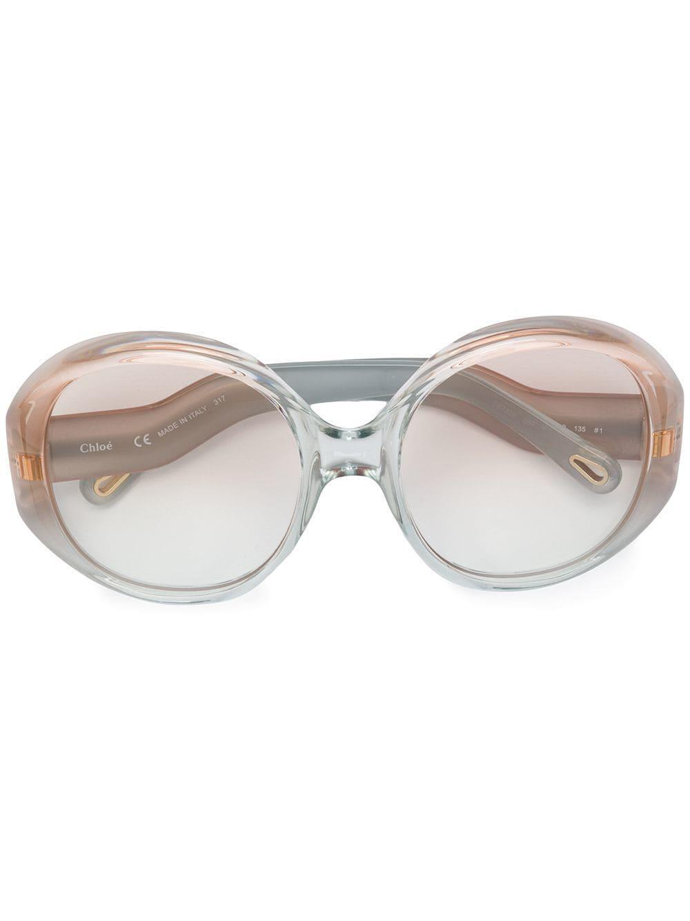 ad1a656d14 Lyst - Gafas de sol con montura redonda oversize Chloé