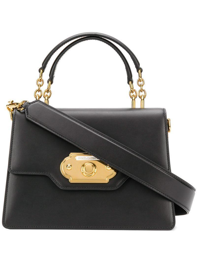 54b53b7dbc Lyst - Dolce & Gabbana Welcome Tote in Black