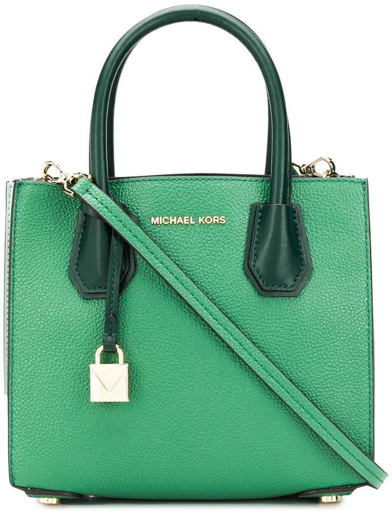 14fb659acb35d Michael Michael Kors Mercer Crossbody Bag in Green - Lyst