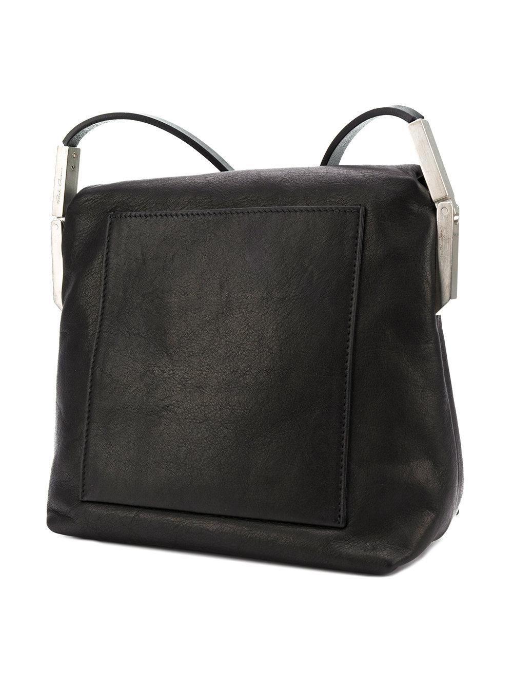 foldover top shoulder bag - Black Rick Owens Discount Cheapest Price Buy Cheap Best Store To Get Outlet Where Can You Find Cheap Sale Find Great Cheap Sale Reliable huIoN6jm