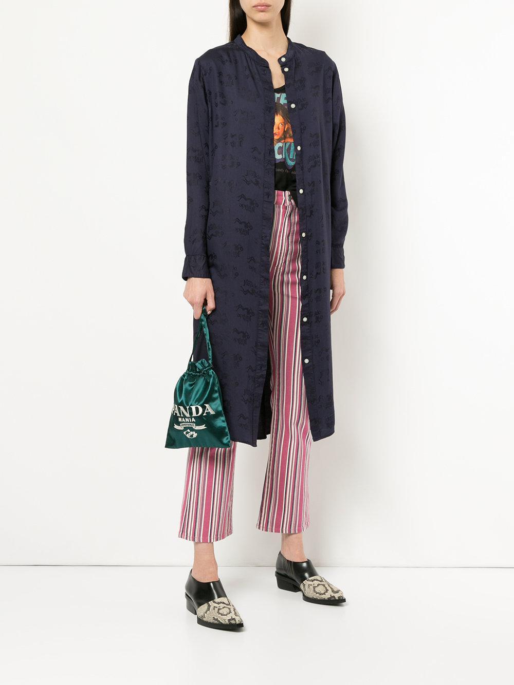 Lyst Hysteric Glamour Panda Mania Drawstring Clutch Bag In Green View Fullscreen