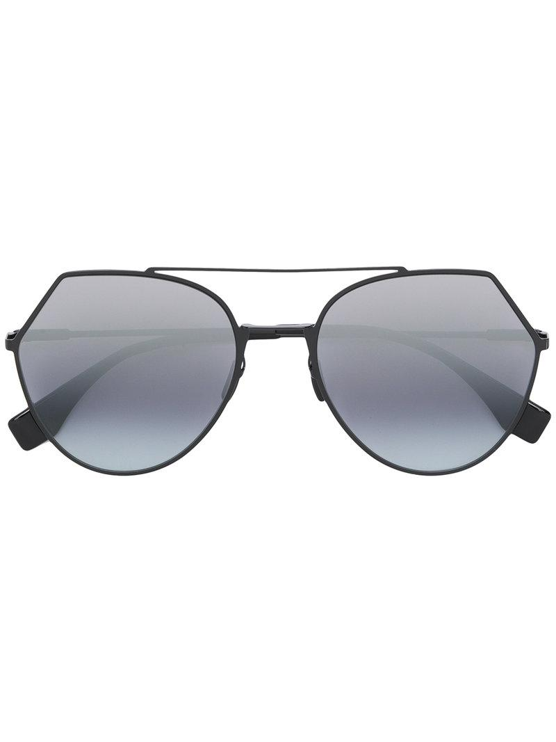 7a233f9430327 Fendi Eyeline Sunglasses in Black - Lyst