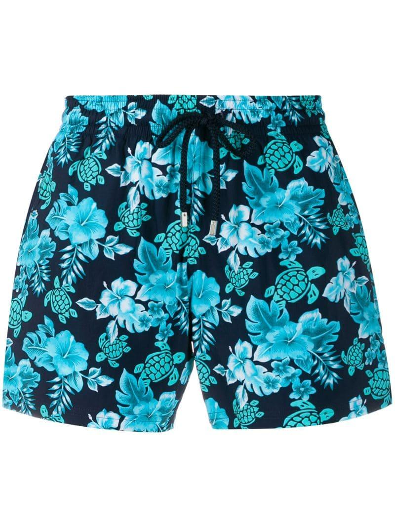 63c38fff8b Vilebrequin Floral Print Swim Shorts in Blue for Men - Lyst